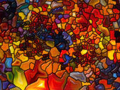 Synergies of Stained Glass — 图库照片