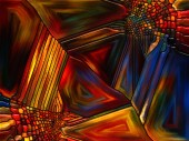 Way of Stained Glass — Stock Photo