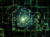 Visualization of Network — Stock Photo