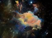 デジタル宇宙空間に向かって — ストック写真