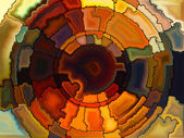 Evolving Stained Glass — Stockfoto
