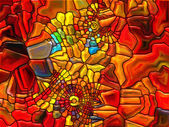 Elements of Stained Glass — Stock Photo