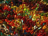 Paths of Stained Glass — Stock Photo