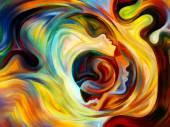 Сферы внутренней краски — Стоковое фото