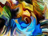 Canlı iç boya — Stok fotoğraf