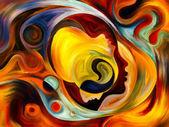 Görselleştirme iç boya — Stok fotoğraf