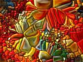 Renkli vitray — Stok fotoğraf