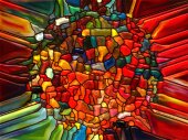 Conceptual Stained Glass — 图库照片