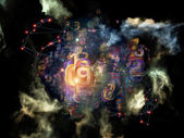 Digital Data Cloud — Stock Photo