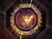 Toward Digital Symmetry — Stock Photo