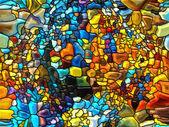 Magie van gebrandschilderd glas — Stockfoto