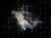 Visualization of Data Cloud — Stock Photo