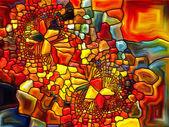 Spel van gebrandschilderd glas — Stockfoto