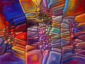 Visualization of Digital Stained Glass — Foto Stock