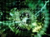 Computing Data Cloud — Stock Photo