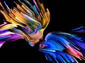 Paradigm of Mind Painting — Stock Photo