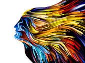 Mind Painting Metaphor — Stock Photo