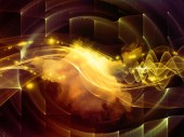 The Flame of Abstract Visualization — Stock Photo