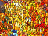 Accidental Stained Glass — Stock Photo