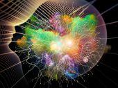 Unfoldingen av inre geometri — Stockfoto