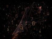 Exploding Network — Stock Photo