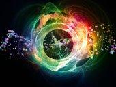 Vibrant Abstract Visualization — Stock Photo