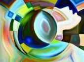 Colors of Internal Geometry — Stock Photo