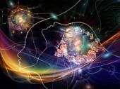 Rede de pensamento conceitual — Fotografia Stock
