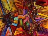 Energia di vetro macchiato — Foto Stock