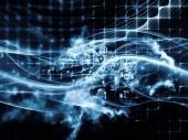 Lichten van gegevens wolk — Stockfoto