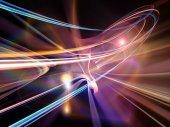 Evolving Light Trails — Stock Photo