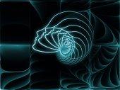 Ruhun geometrisi unsurları — Stok fotoğraf