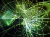 Evolving Light Waves — Stock Photo
