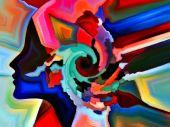 Enerji zihin şekiller — Stok fotoğraf