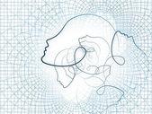 Computing Seele Geometrie — Stockfoto