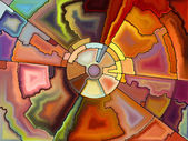 Synergies of Stained Glass — Stock Photo