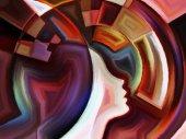 Conceptual Inner Geometry — Stock Photo