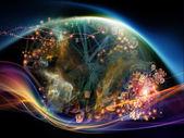 Vida interior de la nube de datos — Foto de Stock
