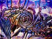 Радужное стекло фон — Стоковое фото
