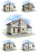 House with siding trim. — Stock Photo