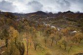 Beautiful autumn in Caucasus Mountains in Azerbaijan — Stock Photo