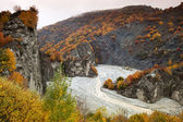 Beautiful autumn in Caucasus Mountains in Azerbaijan — Stock Photo