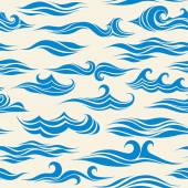 Seamless pattern waves from element of the design — 图库矢量图片