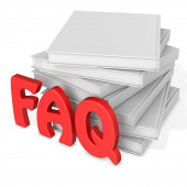 3d frequently asked questions with blank books  — Stock Photo