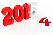 3d 2015 text new year concept — Stock Photo
