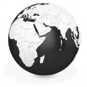 3d black earth globe — Stock Photo