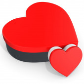 3d red boxes in the shape of heart  — Stock Photo