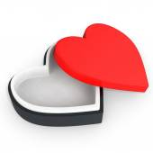 3d box in the shape of heart  — Stock Photo