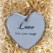Live, love and laugh heart — Stock Photo #57178497