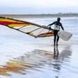 Lone windsurfer getting ready to surf — Stock Photo #57923321